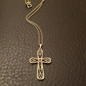 Sarah Coventry cross necklace